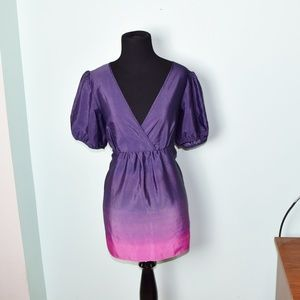 Daisy Fuentes Purple and Pink Ombre Blouse